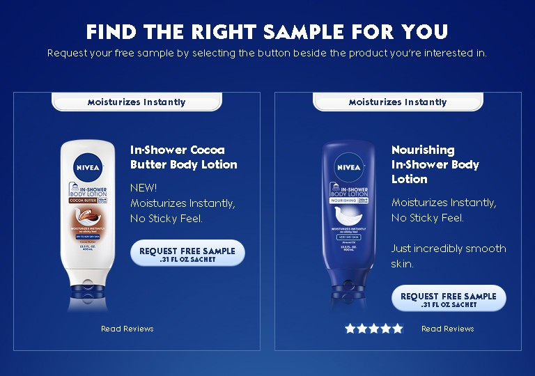 Find the right sample for you at NIVEA USA