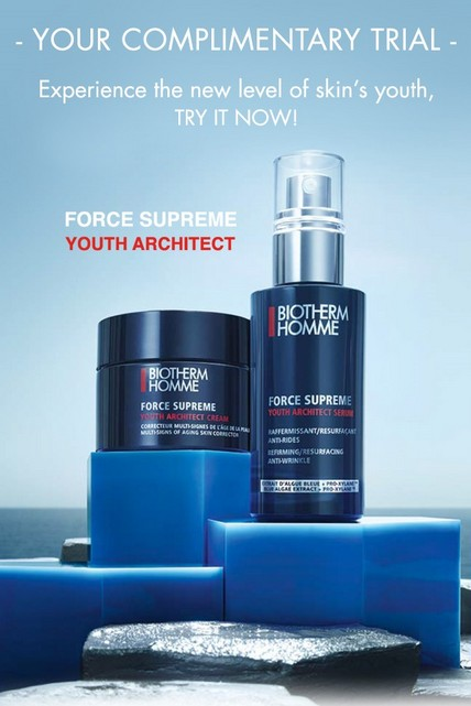 Free Complimentary Biotherm Homme Force Supreme Trial at Biotherm Malaysia