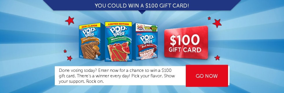 KELLOGG'S™ POP-TARTS™ POP THE VOTE™ ONLINE SWEEPSTAKES- WIN $100 GIFT CARD