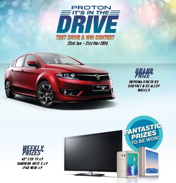 Proton Malaysia Test Drive & Win Contest 2016