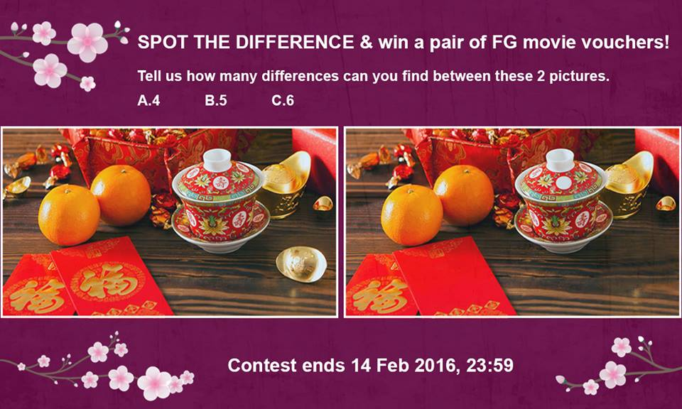 Spot The Difference and Win at Filmgarde Cineplex