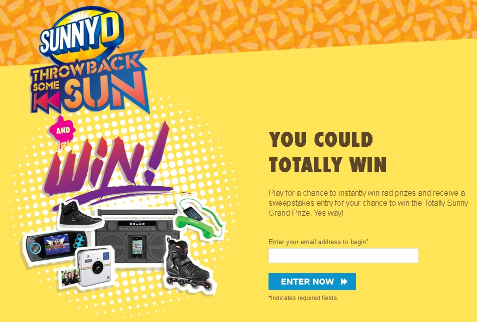 THROW BACK SOME SUN INSTANT WIN GAME AND SWEEPSTAKES