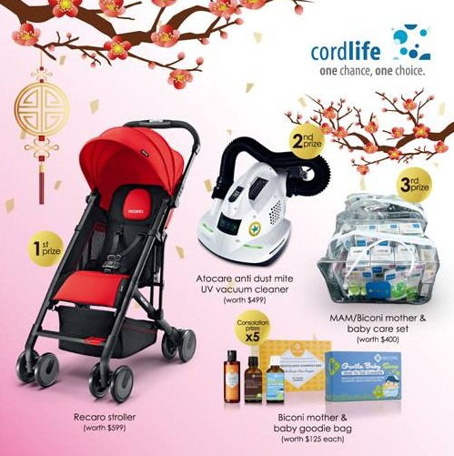 Usher in the Lunar New Year with some baby luck and win attractive prizes at Cordlife Singapore