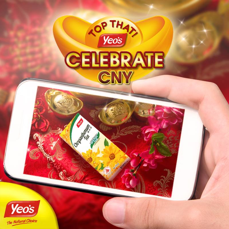 Win 2 carton of Yeo's beverages + a $20 voucher for Chinese New Year at Yeo's