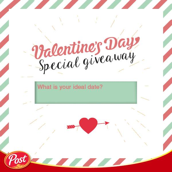 Win yourself a pair of movie tickets to spruce things up on the special V-day at POST Cereals Singapore