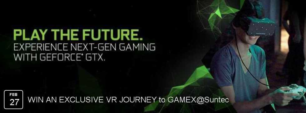 5 lucky fans for each slot randomly for a privileged VR experience at NVIDIA Singapore