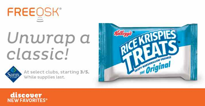 Get a FREE Rice Krispies Treat sample at Sam's Club!