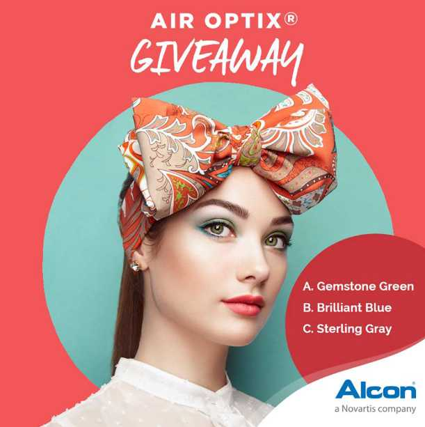 Guess which Air Optix® Color is she wearing contest