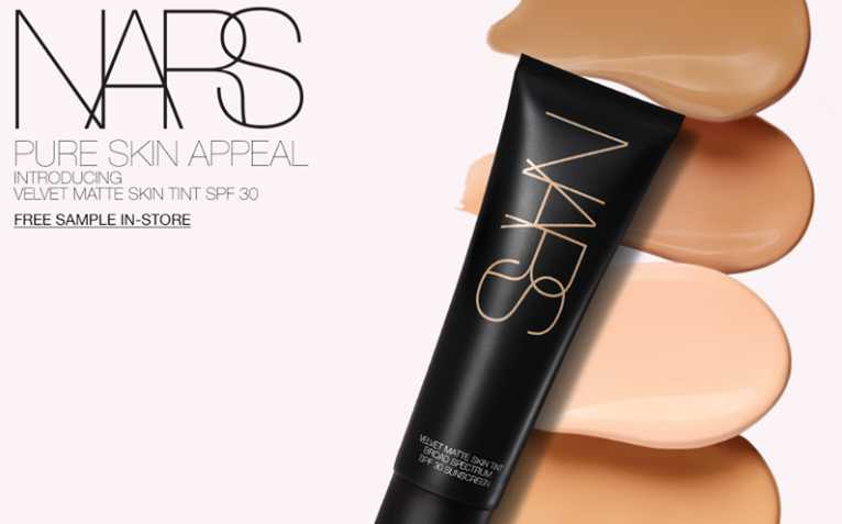 Redeem complimentary samples of the NEW Velvet Matte Skin Tint & Radiant Creamy Concealer at NARS Cosmetics