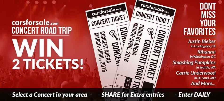 Sign up to win 2 tickets to the hottest concerts across the country