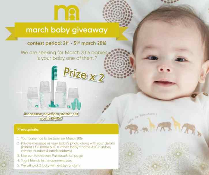 #WIN Innosense newborn starter kit at Mothercare Malaysia