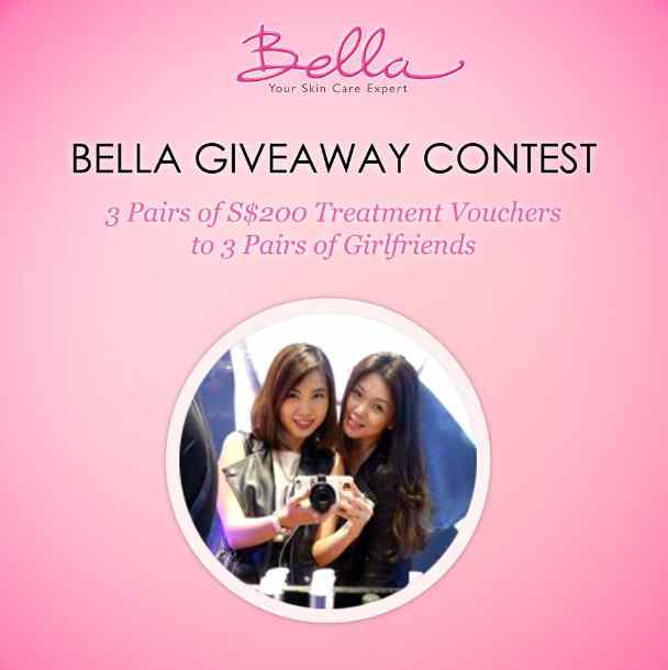WIN S$200 Treatment Vouchers at Bella Skin Care Singapore