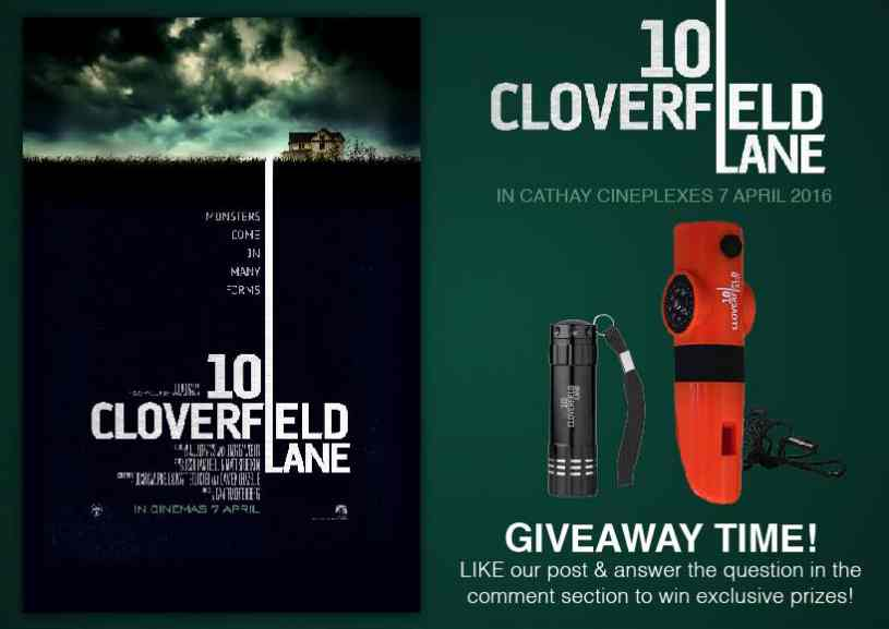 #Win 10 Cloverfield Lane Movie Premiums at Cathay Cineplexes Sdn Bhd