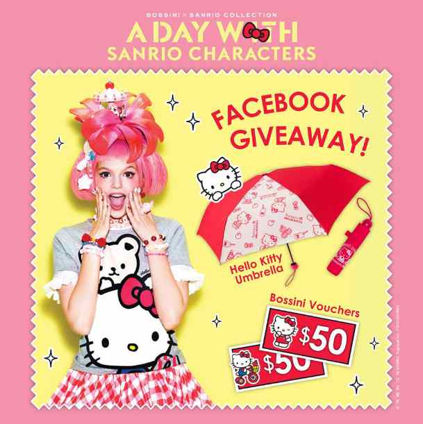 #Win an exclusive Hello Kitty umbrella and a $50 Bossini Gift Voucher at Bossini Be Happy, Singapore