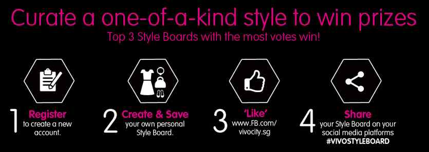 Create your style board & win prizes at Vivocity #Singapore
