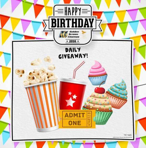 Happy Birthday Golden Screen Cinemas Daily Giveaway