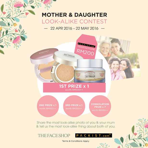 Stand a chance to win amazing prizes for you & your mum at THEFACESHOP Malaysia