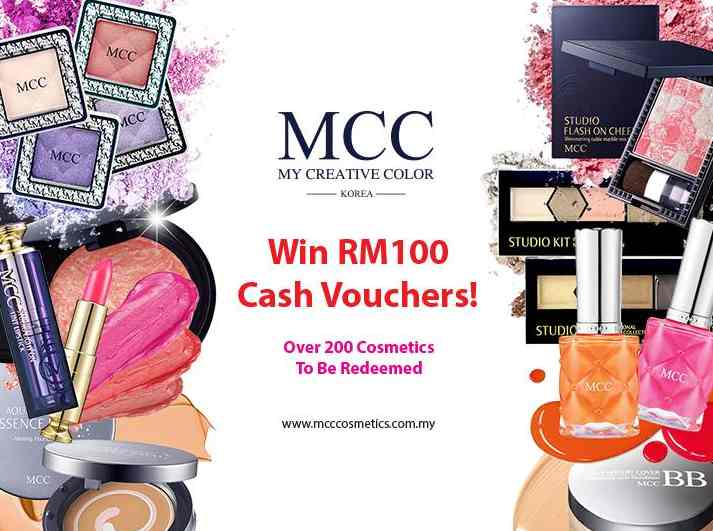 WIN RM100 CASH VOUCHERS FROM MCC COSMETICS MALAYSIA