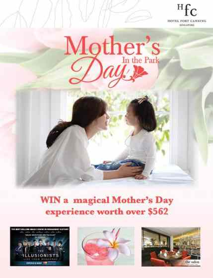 WIN a Mother's Day lunch buffet for four at Hotel Fort Canning's The Salon