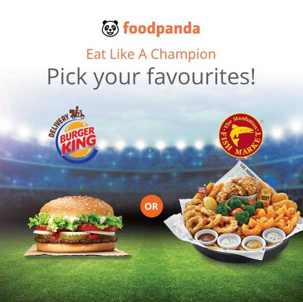 Eat like a champion at foodpanda Singapore