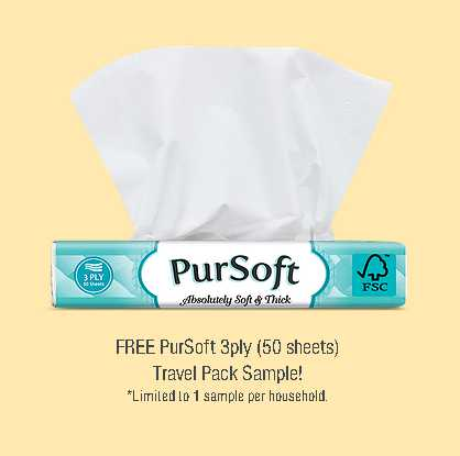 FREE PurSoft 3ply (50 sheets) Travel Pack Sample!