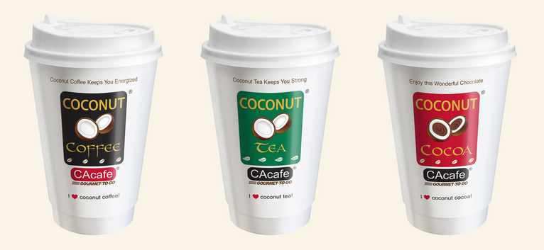 Free CAcafe sample of the delicious Gourmet-To-Go Coconut Coffee, Tea and Cocoa series