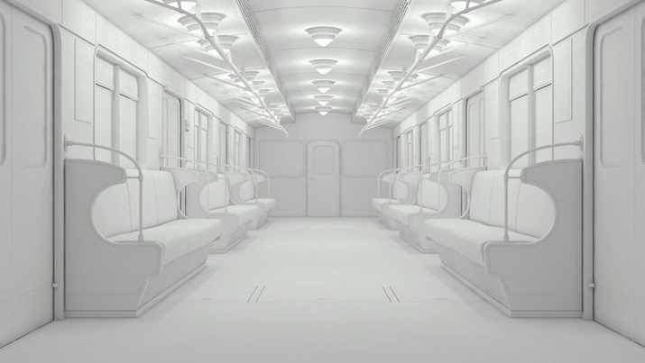 Free Udemy Course on 3ds max making of subway train