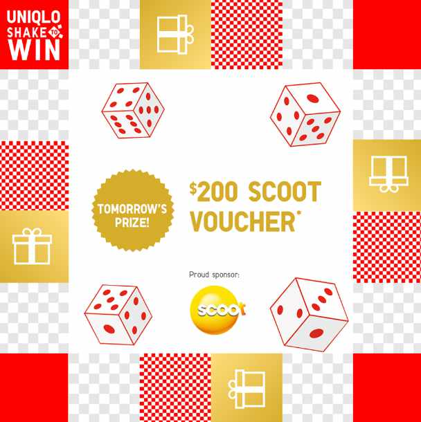 Stand to win a $200 Scoot Voucher when you play Shake at Uniqlo Singapore