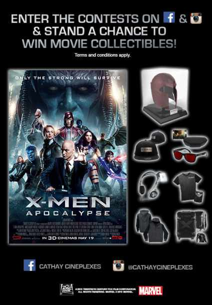 #WIN X-MEN APOCALYPSE movie collectibles at Cathay Cineplexes