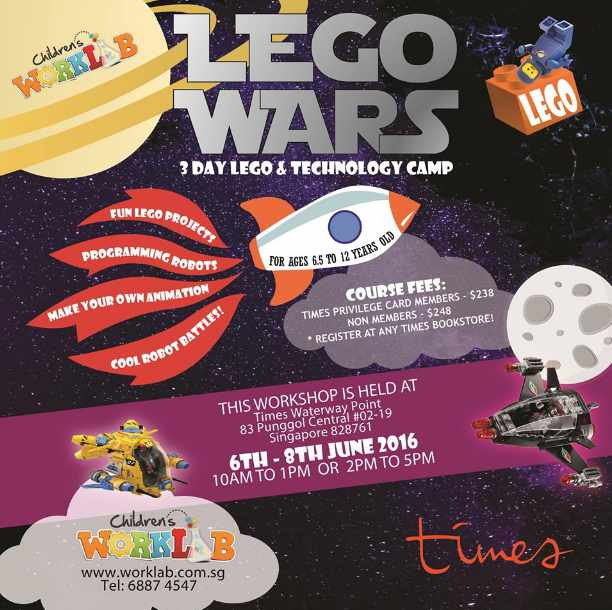 Win Complimentary Lego Wars 3-Day Lego & Technology Camp at Times bookstores