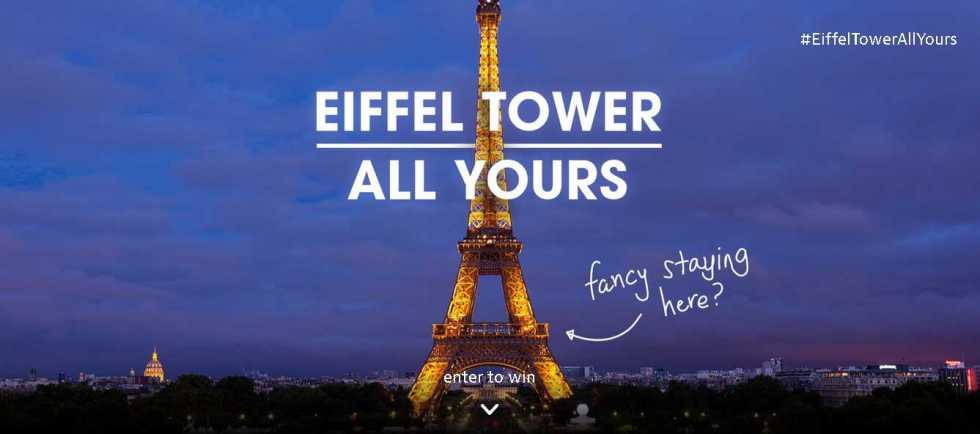 Win an unforgettable night in our exclusive Eiffel Tower Apartment