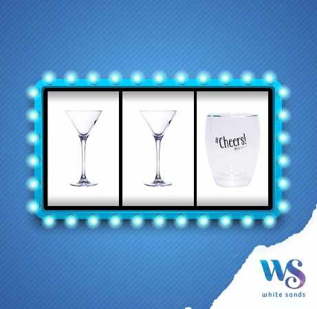 #Win limited edition White Sands double-walled glasses