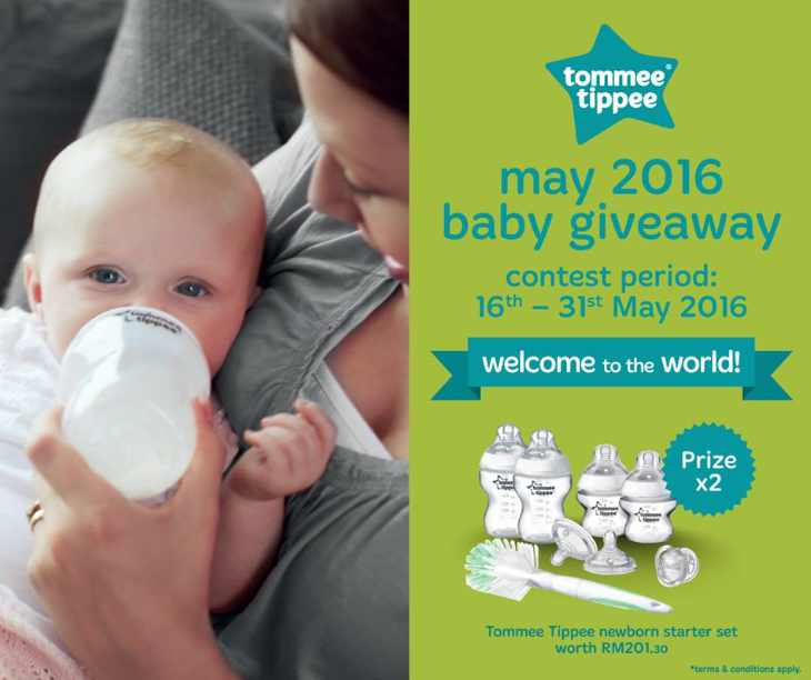 Win the Tommee Tippee newborn starter set worth RM201.30