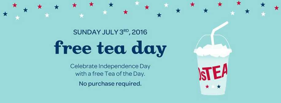 Celebrate with a free Tea of the Day at DAVIDsTEA
