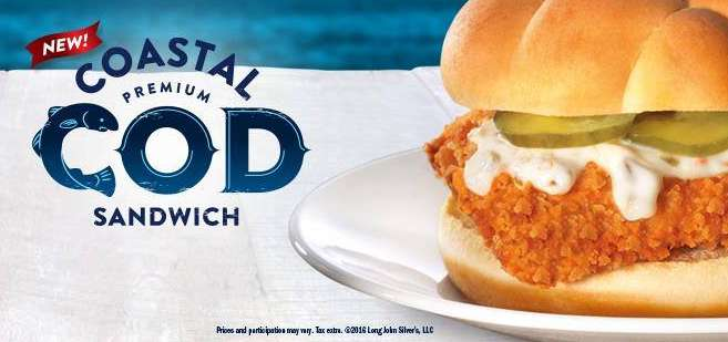 Long John Silver's Coastal Cod Sandwich Sampling Day