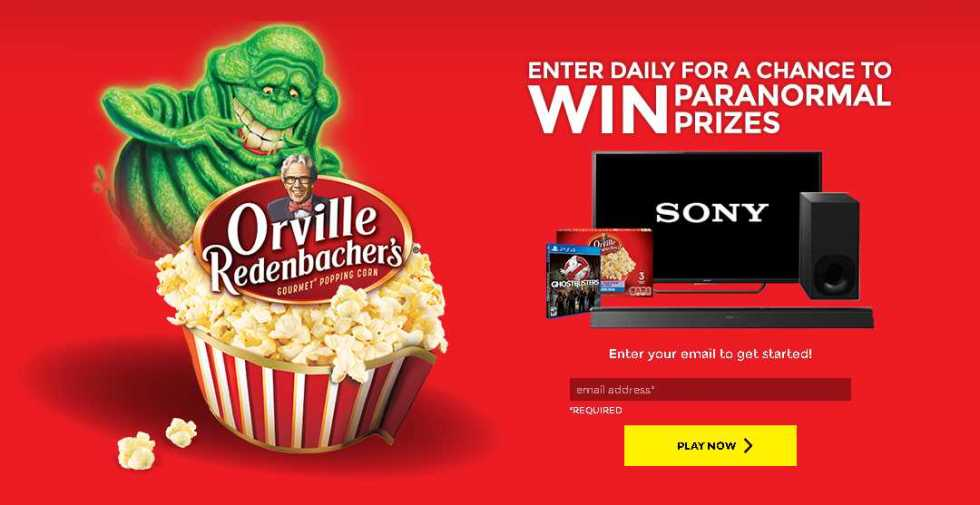 ORVILLE REDENBACHER' S ® + GHOSTBUSTERS ™ INSTANT WIN AND SWEEPSTAKES