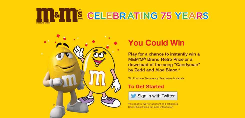 Play for a chance to instantly win a M&M'S® Brand Retro Prize