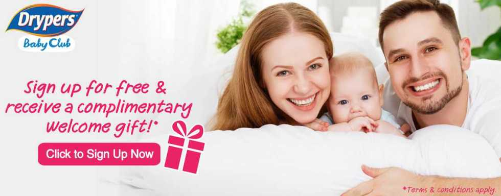 Receive a complimentary welcome gift at Dryers Baby Club