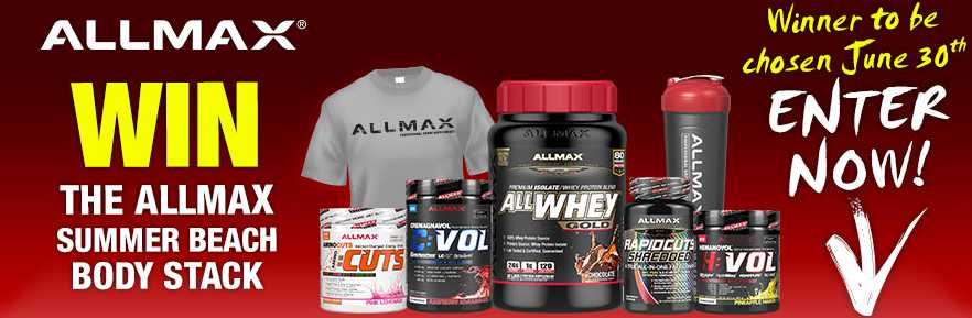 WIN A SUMMER BEACH BODY STACK AT ALLMAX