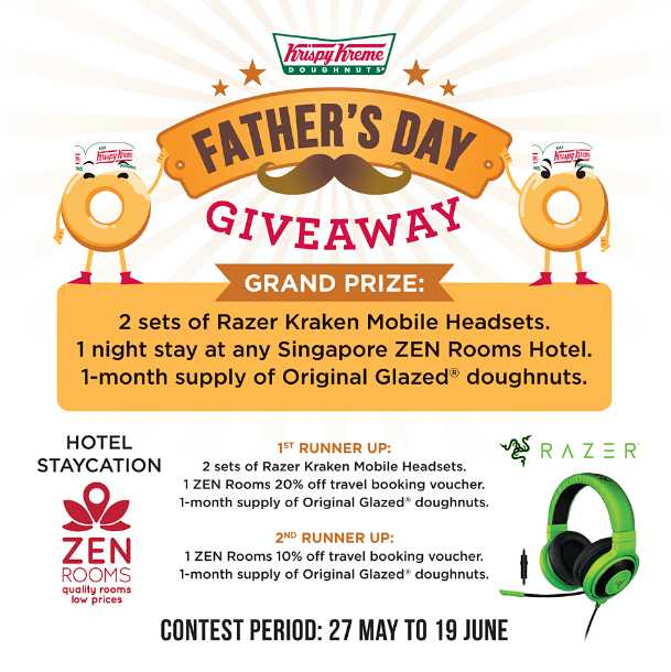 #Win A staycation by ZEN Rooms at Krispy Kreme Singapore this Father's Day