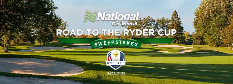 Win a Grand Prize trip for two to the 2016 Ryder Cup at Hazeltine National Golf Club in Minneapolis