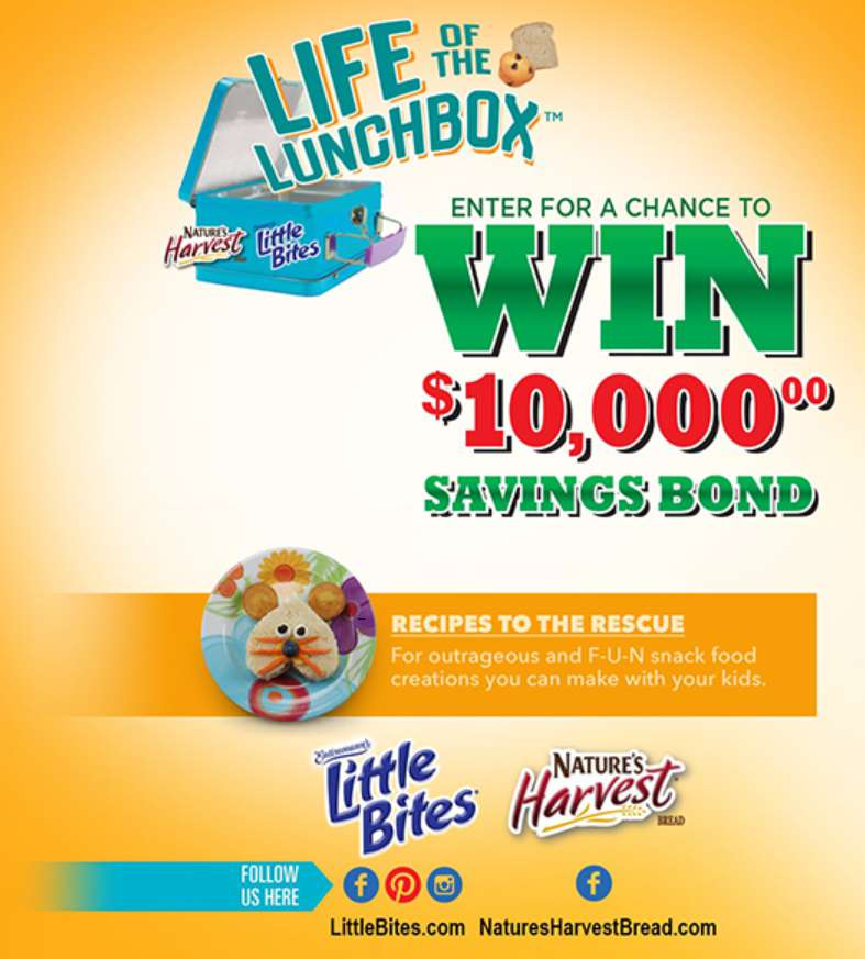 Little Bites® Snacks & Nature's Harvest® Bread $10,000 Sweepstakes