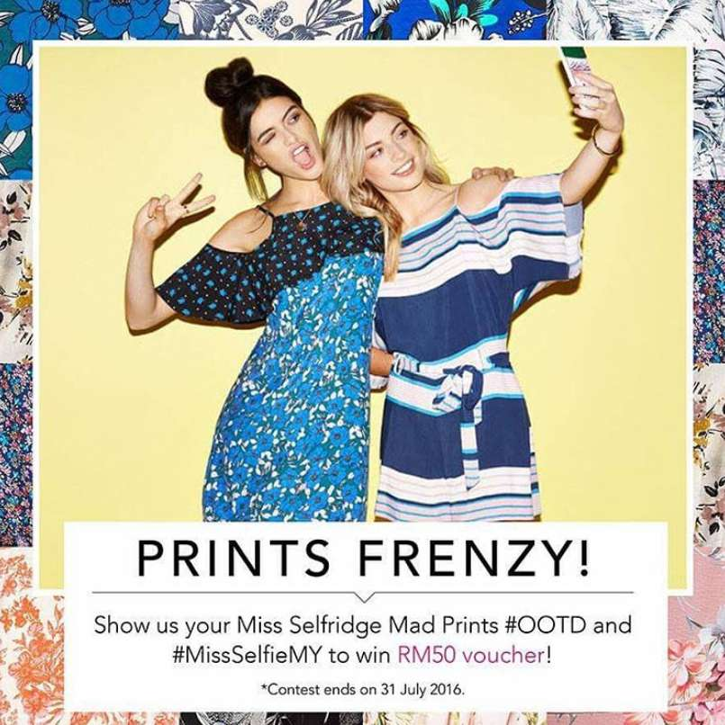 Submit your best Miss Selfridge Mad Prints & stand a chance to win RM50 shopping voucher