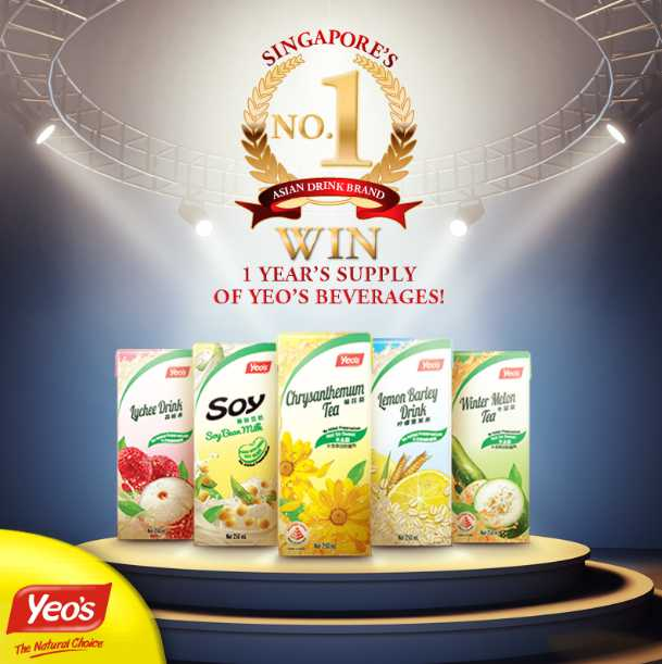 #WIN 1 year's supply of Yeo's drinks to 1 lucky Yeo's fan