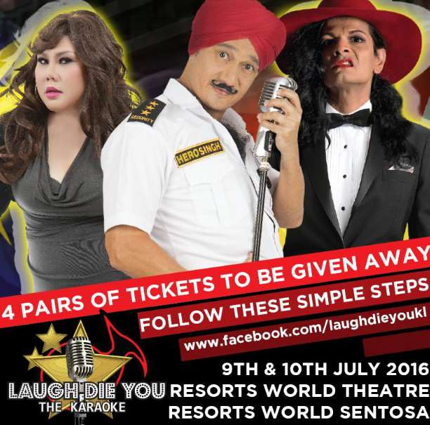 #Win tickets to Laugh Die You at SISTIC Singapore