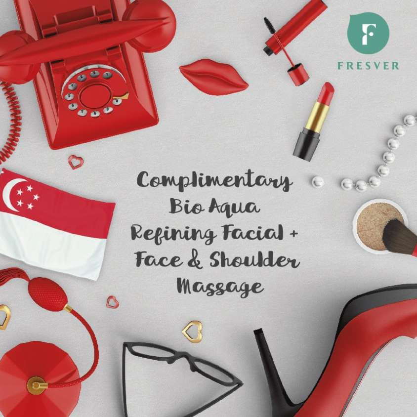 Complimentary session of our Bio Aqua Refining Facial + Face & Shoulder massage at Fresver Beauty