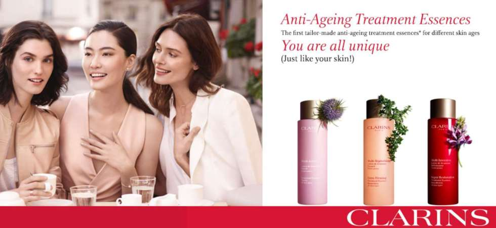 #FREE 3-pc Anti-Ageing Solution Samples for your skin age at Clarins counter