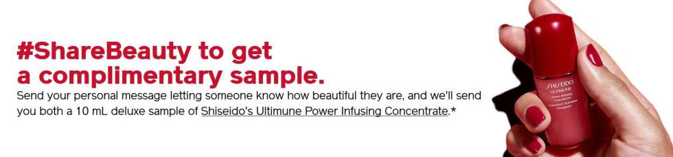 #FREE sample of Shiseido's Ultimune Power Infusing Concentrate