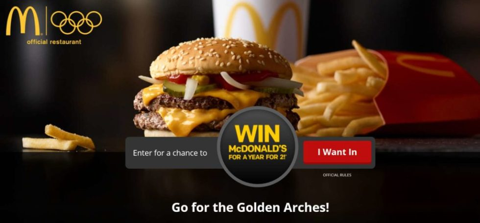 McDonald's Go for the Golden Arches Sweepstakes