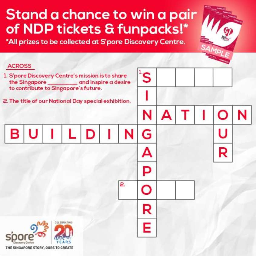 #Win NDP tickets and 10 funpacks at S'pore Discovery Centre